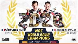 Ogier pakt de zevende titel met de overwinning in Monza