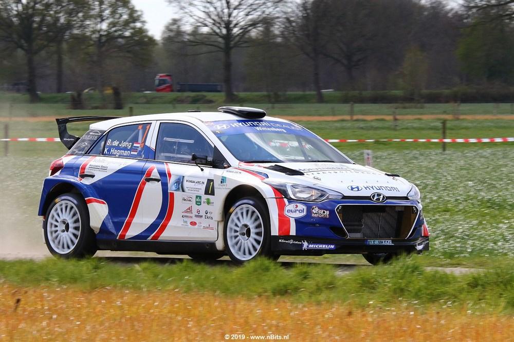 Bob de Jong met Hyundai i20 R5 favoriet in GTC Rally